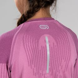Maillot manches longues athlétisme skincare rose fille