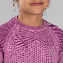 Camiseta Manga Larga Atletismo Kalenji Skincare Niños Rosa