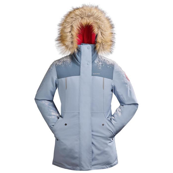 Veste chaude imperméable de randonnée neige enfant SH500 u-warm fille 7-15 ans