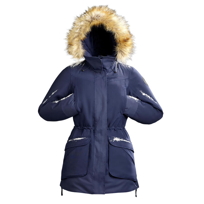 Winterjas dames SH500 ultra-warm marineblauw