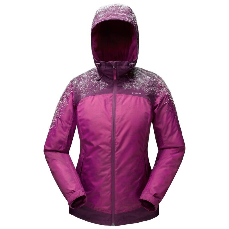 Abrigo Chaqueta de Montaña y Senderismo Nieve Mujer Quechua SH100 X-Warm Violeta