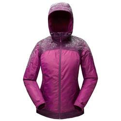 Women's Warm Waterproof Hiking Jacket -SH100 X-WARM