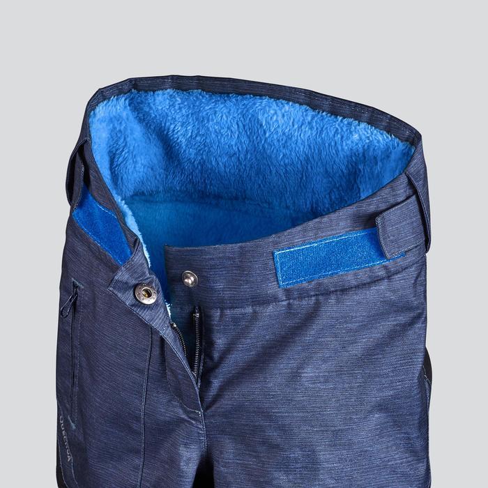 男童款2到6歲極致保暖雪地健行長褲SH500-藍色