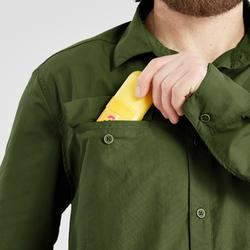 Camisa de manga larga de Trekking en el desierto DESERT 500 hombre verde oscuro