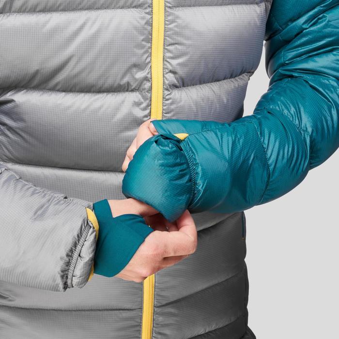 Slaapzak-jas Sleeping Suit Trek 900 10° dons blauw/grijs