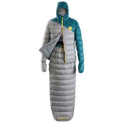Slaapzak jas Sleeping Suit TREK900 10° veren rood grijs