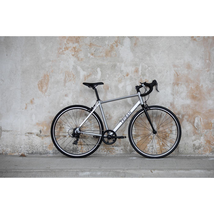 VÉLO DE ROUTE TRIBAN RC100 GRIS