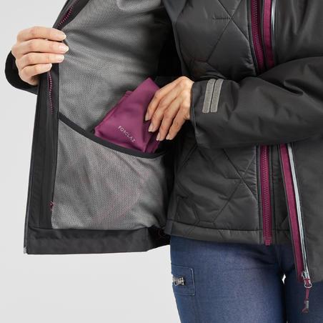 Women's Trekking 3-in-1 Jacket Travel 500 - Black