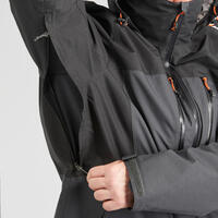 M 3-In-1 Waterproof Comfort -10°C Travel Trekking Jacket - TRAVEL 500 - Black