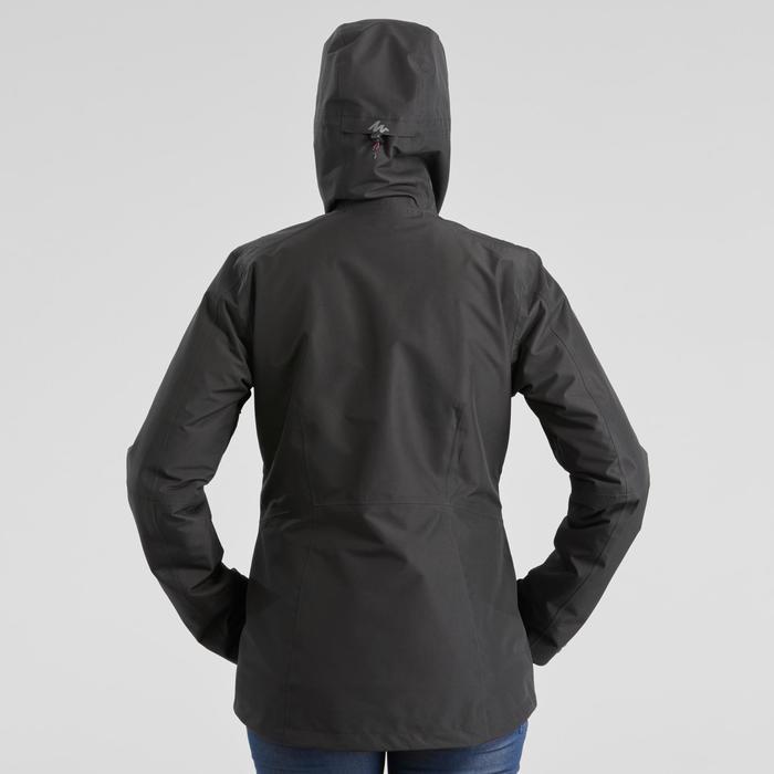 3-in-1 damesjas voor backpacken Travel 500 zwart