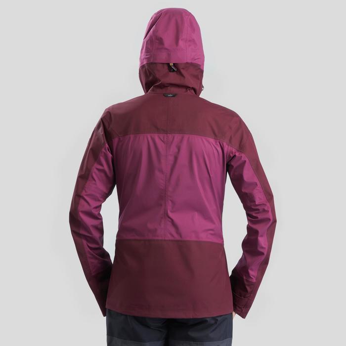 Veste imperméable trekking en montagne - TREK 500 violet femme