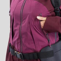 Trekkingjacke wasserdicht Trek 500 Damen violett