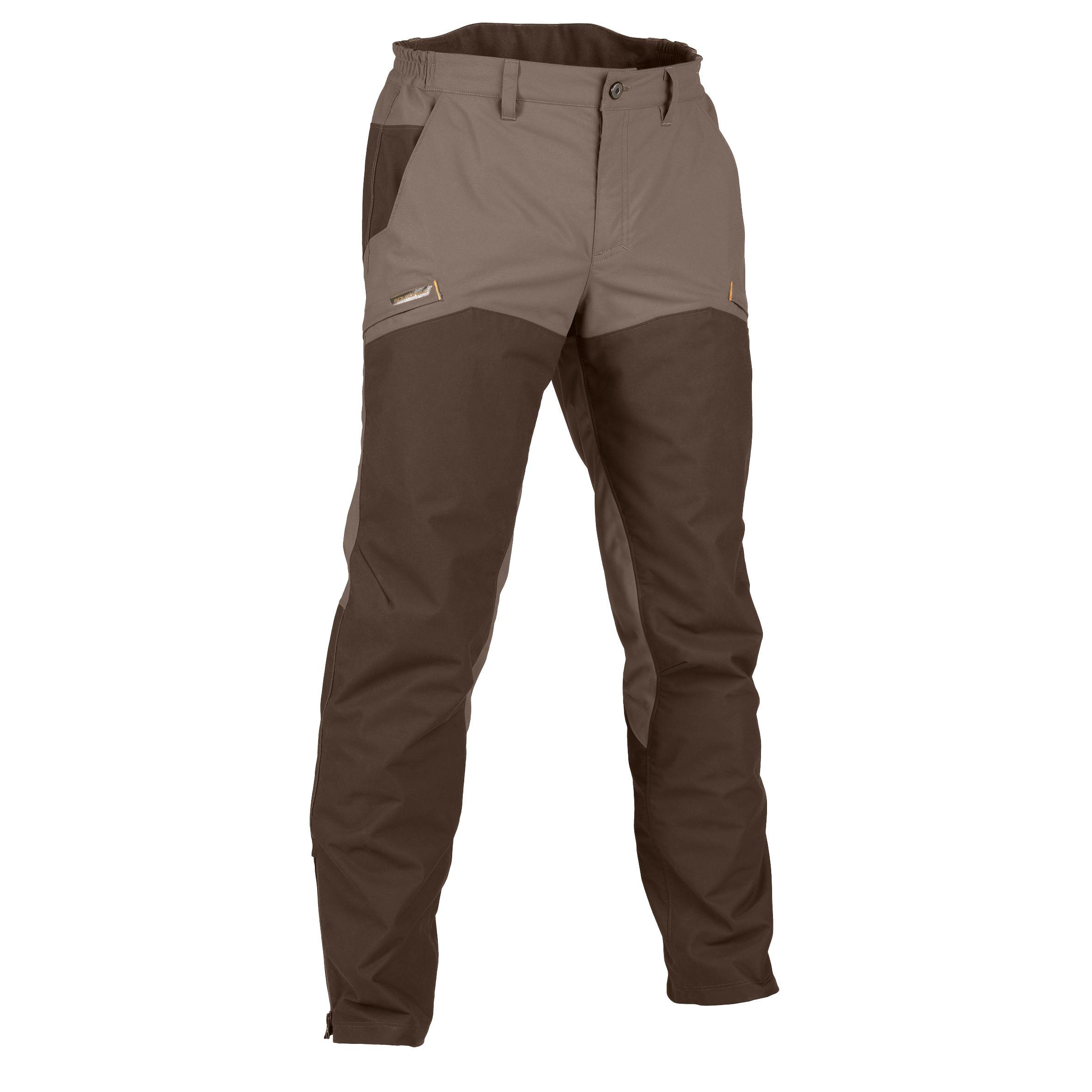 Pantalon chasse impermÉable renfort 520 marron solognac