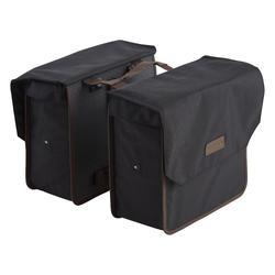 Doppel-Fahrradtasche Gepäcktasche 500 2×20 L schwarz