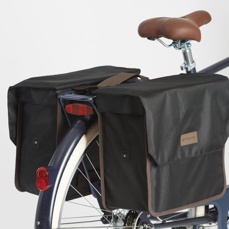 Double Bike Rack Bag 500 2 x 20L - Black/Gray