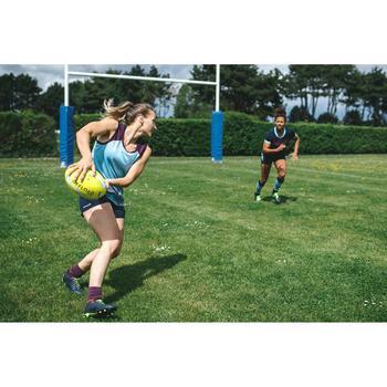 Débardeur rugby femme Bleu/Prune