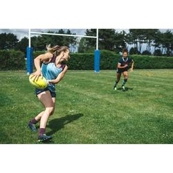 Pantalón corto Rugby Offload R500 Mujer azul