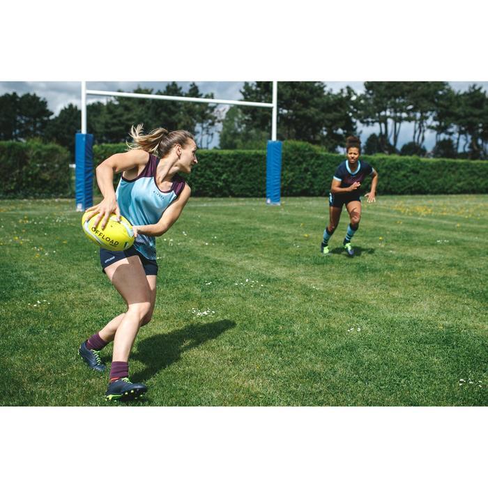 Short Rugby R500 Femme Marine Bleu Ciel