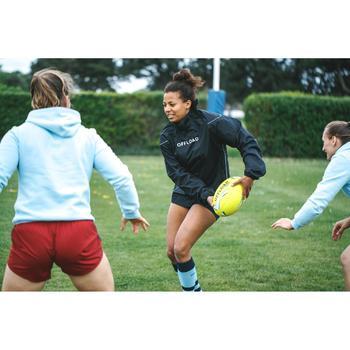 Rugby-Smocktop R500 wasserdicht Erwachsene schwarz