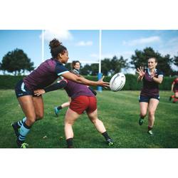 Short Rugby R500 Femme Bordeaux Prune