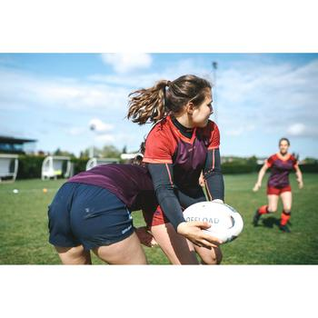 Maillot rugby R500 Femme Prune Bordeaux