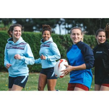 Short de Rugby R500 Femme Marine Bleu Ciel