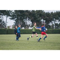 Rugby-Stutzenstrümpfe R500 hoch Kinder blau