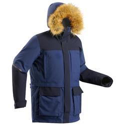 Abrigo Chaqueta Montaña y Trekking Ártico 500 Extra Warm Parka Hombre Azul