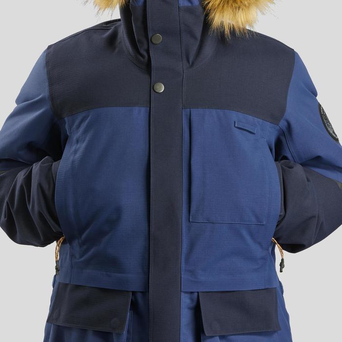 Parka de trekking Arctic 900 extra chaude imperméable Bleue
