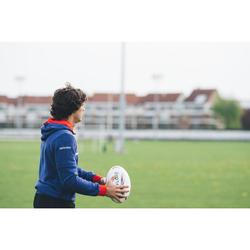 Balón de Rugby Offload R900 talla 5 gris y rojo