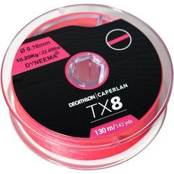 Gevlochten vislijn voor kunstaasvissen TX8 roze 130 m