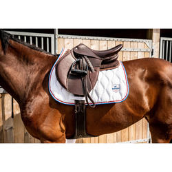 Tapis de selle équitation cheval et poney 500 blanc