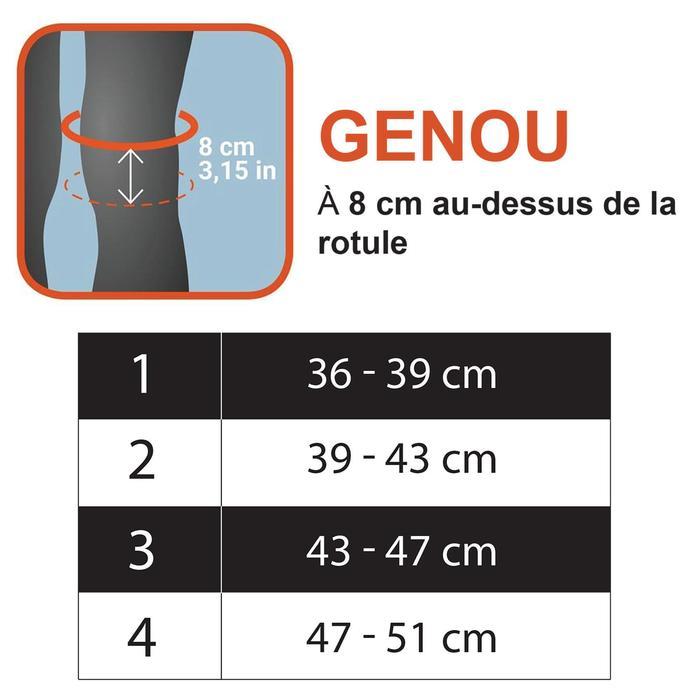 GENOUILLÈRE PROTECTION BASKETBALL ADULTE POUR JOUEUR/JOUEUSE CONFIRMÉ(E) NOIR