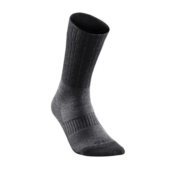 Calcetines cálidos de senderismo adulto SH500 ultra-warm mid negro