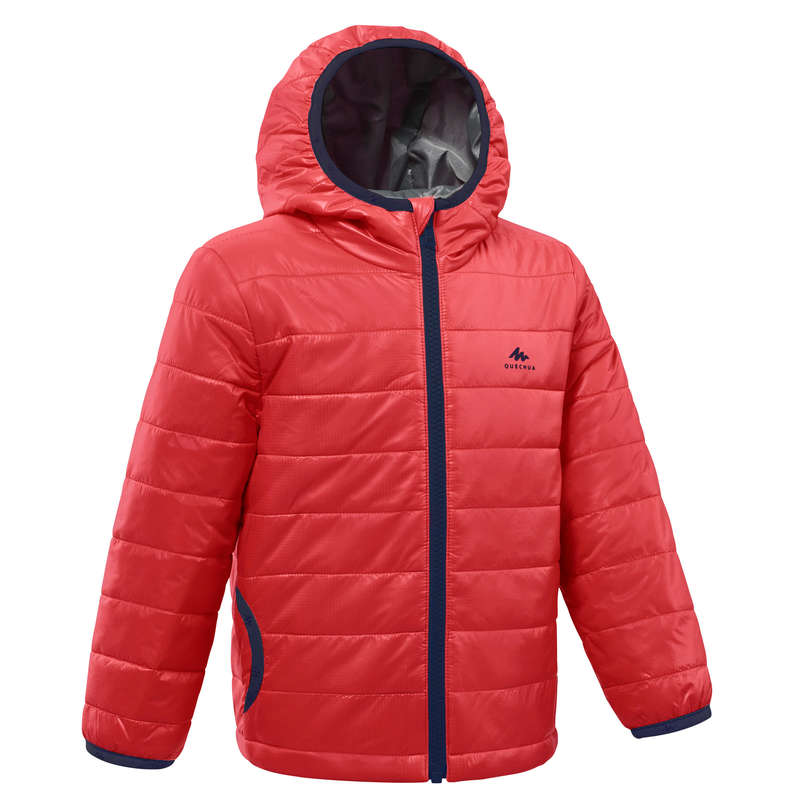 FLEECE PADDED & SOFTHELL JKT BOY 2-6 Y Clothing - KIDS' PADDED JACKET MH500 BGD QUECHUA - Coats and Jackets