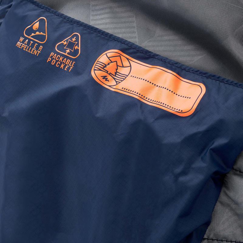 เสื้อแจ็คเก็ตเด็กอายุ 2-6 ปีบุนวมสำหรับเดินป่ารุ่น MH500 (สีกรมท่า)