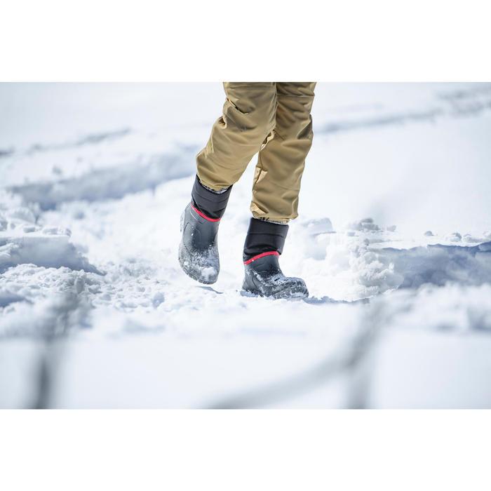 Bottes de randonnée neige Homme SH100 warm noires.