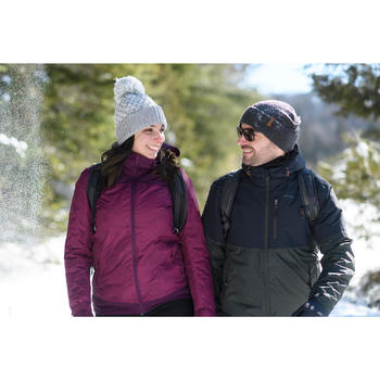 Winterjacke Winterwandern SH100 Extra-Warm Damen violett