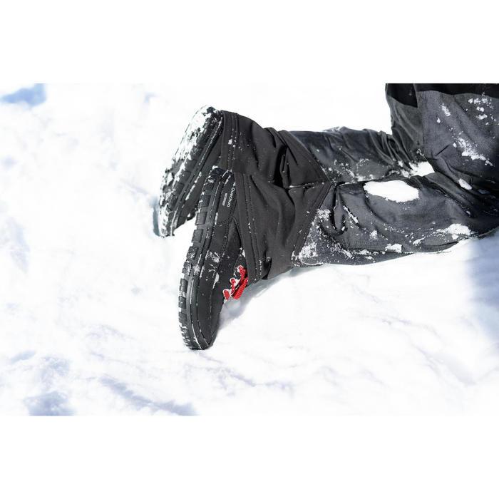 Chaussures chaudes de randonnée neige enfant SH100 warm lacet mid noires