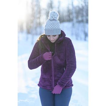 女款極致保暖雪地健行刷毛外套SH100-粉紅色