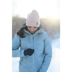 Veste de randonnée neige femme SH100 x-warm bleu-ice