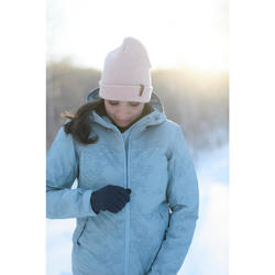 Winterjacke Winterwandern SH100 X-Warm Damen ice blue