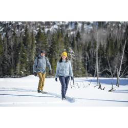Pantalon chaud de randonnée femme SH500 x-warm bleu