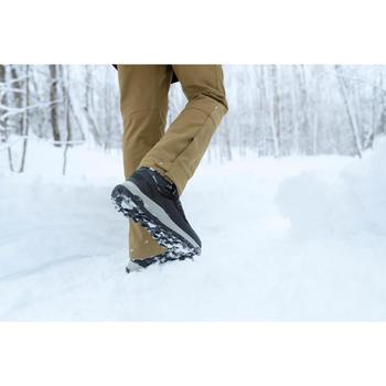 Pantalon chaud de randonnée homme SH500 x-warm marron.