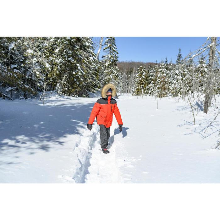 Parka de randonnée neige enfant SH500 U-Warm garçon 7-15 ans rouge.