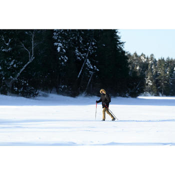 Parka chaude imperméable de randonnée neige homme SH500 ultra-warm noire.