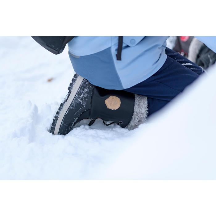 兒童款超保暖雪地健行靴SH520-黑色