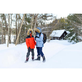 KIDS' WARM AND WATERPROOF SNOW BOOTS - SH500 X-WARM LEATHER