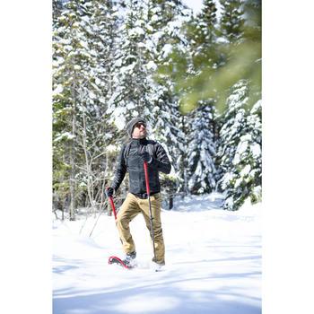 Chaqueta polar híbrida de senderismo nieve hombre SH900 X-warm negro.