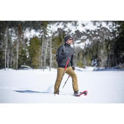 Hybride fleecejas voor hikes in de sneeuw SH900 X-Warm heren zwart
